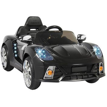 Marketworldcup- BCP 12V Ride On Car Kids W/MP3 Electric Battery Power Remote Control RC Black