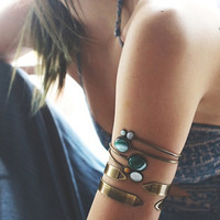 Free People Womens Metal Armband Duo