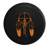 American Indian Dream Catcher Feathers RV Camper Jeep Spare Tire Cover