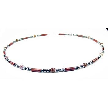 Mens Chakra Necklace Pietersite Crystal Healing Stones Energy Balancing Jewelry SUPPORT MN13