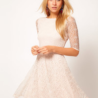 ASOS Skater Dress In Lace at asos.com