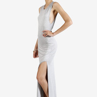 Deyn Front Slit Maxi Dress - Grey