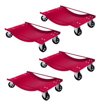 4 PCS Wheel Dolly Red