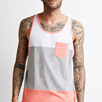 Heathered Colorblock Pocket Tank