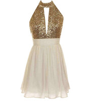 Open Back Sequin Dress