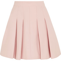 REDValentino - Pleated stretch-cotton mini skirt