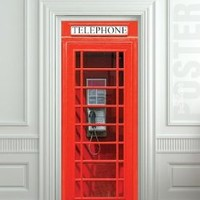 "Amazon.com: Door wall sticker London Telephone Box self-adhesive poster, mural, decole, film 30x79"" (77x200 Cm): Home & Kitchen"