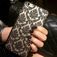 Fashion womens Retro Lace Flowers mobile phone case for iphone 5 5s SE 6 6s 6plus 6s plus + Nice gift   box!