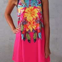Delusion Dress Pink - Womens