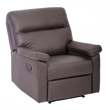 Recliner Chair Sofa Set Home Lounge with Padded Seat Backrest Brown 024