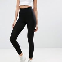 ASOS Leggings With Deep Waistband at asos.com
