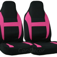 Mesh Pink Black HB Car Seat Cover 2