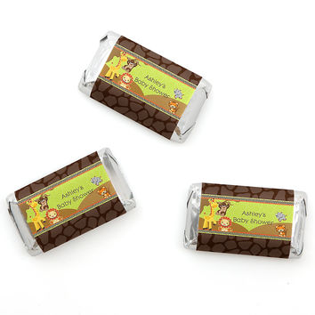 Baby Shower Mini Candy Bar Wrapper Favors - Funfari - Fun Safari Jungle
