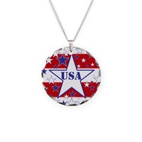 USA stars and Stripes Necklace