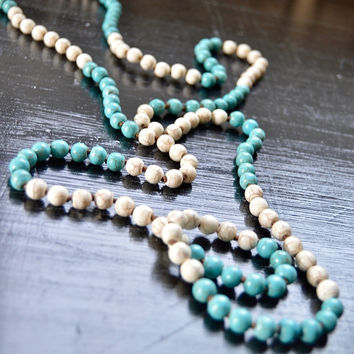 Two Tone Matte Beaded Necklace
