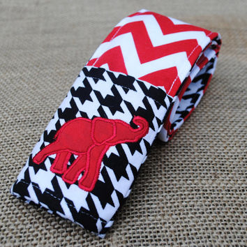 Alabama elephant houndstooth and chevron camera strap cover