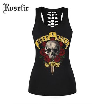 Vintage Guns N Roses Ripped Back Tank Top