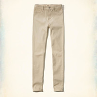 Hollister High Rise Super Skinny Twill Pants