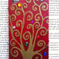 Tree of Life Klimt iPhone 4 Case in Red by glitzcraft on Etsy