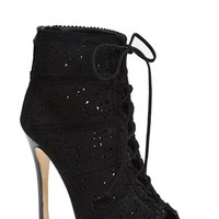 Women's Alice + Olivia 'Gale' Lace-Up Suede Bootie (Nordstrom Exclusive)