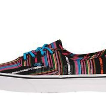 Vans Authentic Guate Stripe Multi Color Black Classic Casual Shoes VN-0QER5IL
