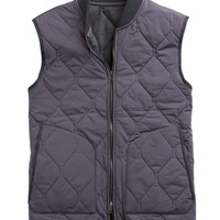 Quilted Vest in Dark Grey
