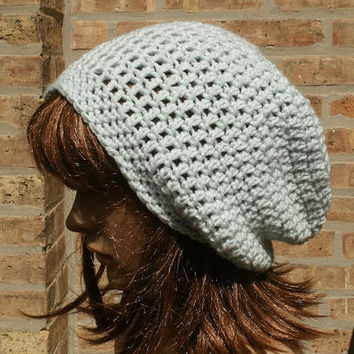 Crochet Hat for Women - The Eden in Arctic Ice - Womens Hat - Mens Hat - Gamers Hat - Slouchy Hat