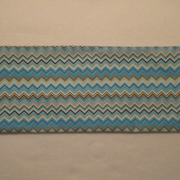 Neck Heating Pad Shoulder Cold Pack Lower Back Medium Sized Rice Bag Blue White Yellow Black Chevron Modern Colors