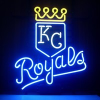 Kansas City Royals MLB Sports Neon Sign Real Neon Light