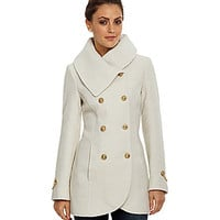 Jessica Simpson Double-Breasted Tulip-Hem Coat | Dillards.com