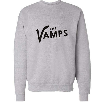 the vamps sweater Gray Sweatshirt Crewneck Men or Women for Unisex Size with variant colour