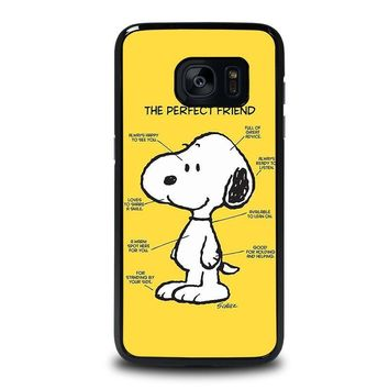 snoopy dog perfect friend samsung galaxy s7 edge case cover  number 1