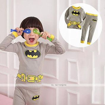 Baby Toddler Kid Boy Cartoon Movie Clothes Sleepwear Pajama Pjs 2 Pcs Sets  2 3 4 5 6 7 Years Old Spring Fall Long Sleeve Casual