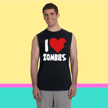 I Heart Zombies Sleeveless T-shirt