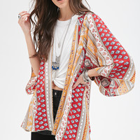 Abstract Striped Kimono - Sweatshirts & Knits - Patterned - 2000057781 - Forever 21 UK