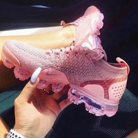 Nike Air Vapormax Flyknit 2.0 Pink Fashion Women Casual Air Cushion Running Sport Shoes Sneaker I/A
