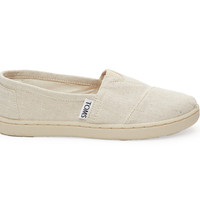 TOMS Cream Chambray Youth Classics White