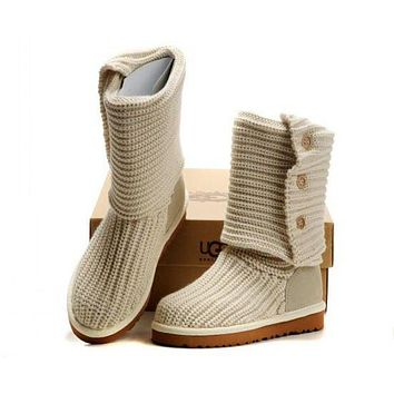ONETOW UGG' Women Fashion Knit Knitted Wool Snow Boots