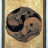 Yin-Yang Dragon - Gold - Curtain