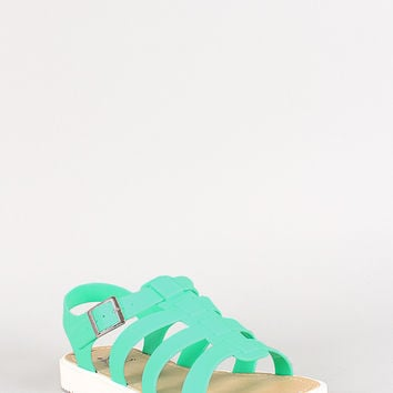 Jelly Fisherman Low Flatform Sandal
