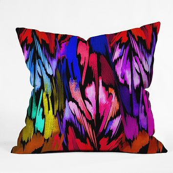 Holly Sharpe Feather Rainbow Throw Pillow