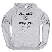Basketball-Unisex Heather Grey Hoodie