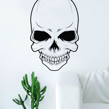 Skull v5 Decal Sticker Wall Vinyl Art Decor Home Living Room Bedroom Skeleton Halloween