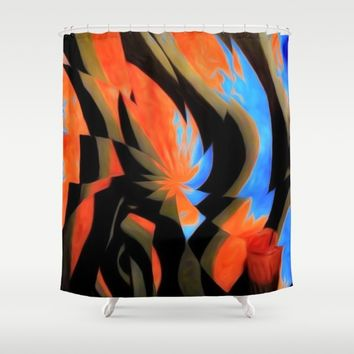 TURQ OR Shower Curtain by violajohnsonriley
