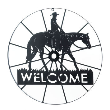 Cowboy Welcome Sign Wall Decor