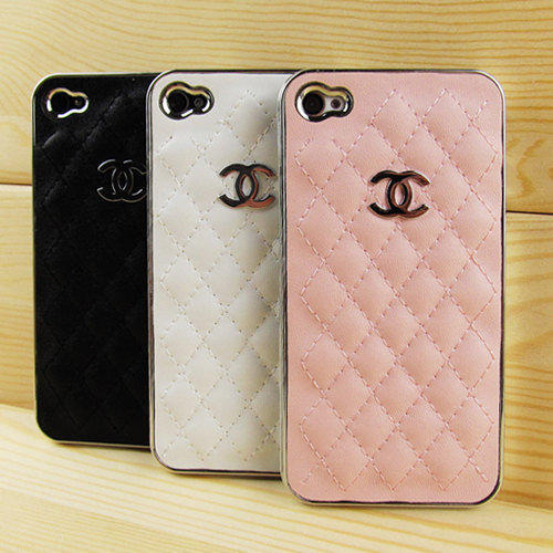 Handmade Chanel iPhone 4 Case Leather Chanel iPhone Case 3 Colors