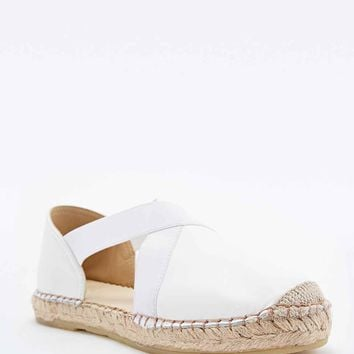 Out From Under Jerry Suede Espadrilles in White - Urban Outfitters