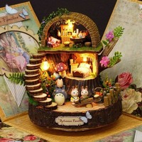 Resin Anime Cottages Music Box