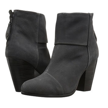 rag & bone Classic Newbury Charcoal Nubuck - Zappos.com Free Shipping BOTH Ways