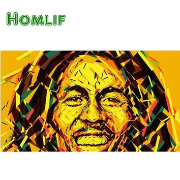 Bob Marley One Love 5D Diamond Embroidery Pictures By Numbers Full square 5D Diamond Painting Cross Stitch Mosaic Needlework Art